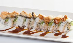 Unagi Lovers($12.50) - California Topped w/eel,eel sauce